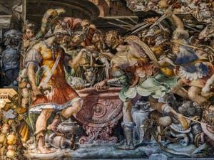 Francesco Salviati, Fresques Salle des Audiences, 1543-1545, Palazzo Vecchio, Florence Italie