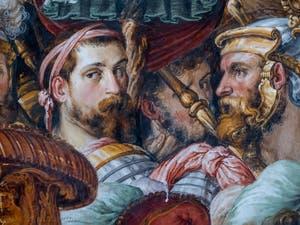 Portrait de Francesco Salviati dans la salle des Audiences du Palazzo Vecchio à Florence en Italie.