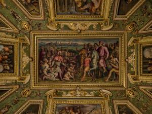 Giorgio Vasari, le Retour d'exil de Cosme l'Ancien, Palazzo Vecchio à Florence Italie