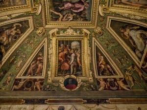 Giorgio Vasari, Marco da Faenza, fresques du plafond de la salle Cosme l'Ancien du Palazzo Vecchio à Florence Italie