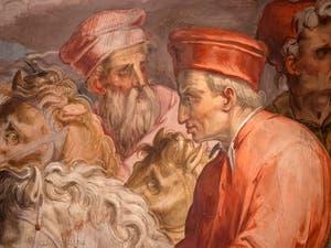 Giorgio Vasari, Le Départ de Cosme l'Ancien pour l'Exil, salle Cosme l'Ancien au Palazzo Vecchio à Florence en Italie.