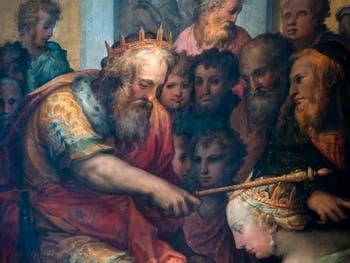 Giorgio Vasari, Esther prie Assuérus d'arrêter le massacre des Juifs, Palazzo Vecchio à Florence en Italie.