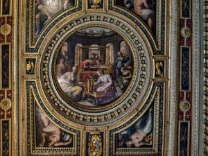 Giorgio Vasari, Giovanni Stradano, Salle de Pénélope, Pallazzo Vecchio à Florence Italie