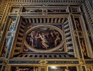 Giorgio Vasari, Giovanni Stradano, Salle des Sabines, 1561-1562, Pallazzo Vecchio à Florence Italie