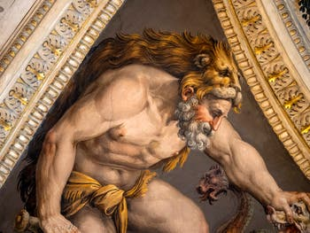 Giorgio Vasari, Hercule tue l'Hydre, salle Laurent de Médicis au Palazzo Vecchio à Florence en Italie.