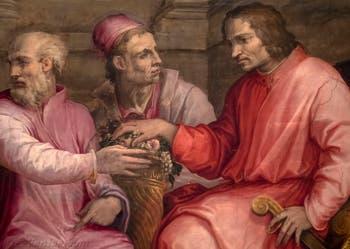 Giorgio Vasari, Laurent le Magnifique à la Diète de Crémone, salle Laurent de Médicis au Palazzo Vecchio à Florence en Italie.