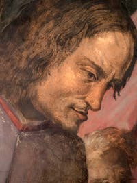 Giorgio Vasari, Laurent le Magnifique reçoit l'hommage des ambassadeurs, salle Laurent de Médicis au Palazzo Vecchio à Florence en Italie.