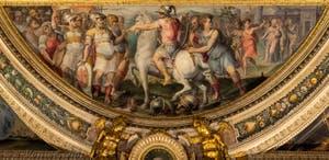 Giorgio Vasari, La Prise de Sarzana, salle Laurent de Médicis au Palazzo Vecchio à Florence en Italie.