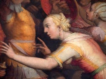 Giorgio Vasari, Les Sabines font la paix entre leur peuple et les Romains, Palazzo Vecchio à Florence en Italie.
