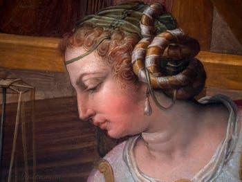 Giorgio Vasari, Pénélope à son métier à tisser, salle de Pénélope au Palazzo Vecchio à Florence en Italie.