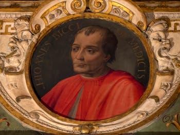 Giorgio Vasari, Portrait de Giovanni Bicci de Médicis, salle Cosme l'Ancien au Palazzo Vecchio à Florence en Italie.