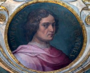 Giorgio Vasari, Portrait de Lorenzo de Médicis, salle Cosme l'Ancien au Palazzo Vecchio à Florence en Italie.