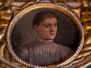 Giorgio Vasari, Portrait de Pierre 1er de Médicis dit le Goutteux, salle Cosme l'Ancien au Palazzo Vecchio à Florence en Italie.