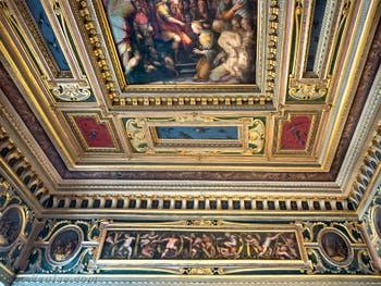 Giorgio Vasari, Giovanni Stradano, Salle d'Esther, 1561-1562, Palazzo Vecchio Florence Italie