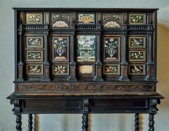 Giovanni Bilivert, Secrétaire ébène et marqueterie, Vue de la Villa Petraia, 1610-1630, Palazzo Vecchio, Florence Italie