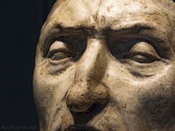 Masque mortuaire de Dante Alighieri, 1483, Palazzo Vecchio à Florence Italie