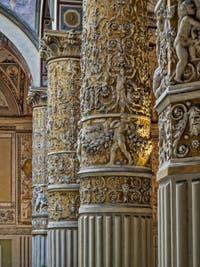 Giorgio Vasari, Le Cortile de Michelozzo, 1555-1565, du Palazzo Vecchio à Florence en Italie