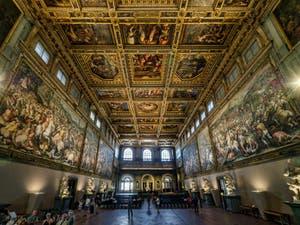 La Sala de los Quinientos, dei Cinquecento, Palazzo Vecchio en Florencia, Italia