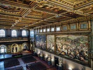 La Salle des Cinq Cents, dei Cinquecento, Palazzo Vecchio à Florence en Italie