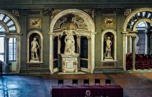 La Salle des des Audiences de la salle Cinq Cents, dei Cinquecento, Palazzo Vecchio à Florence en Italie