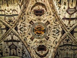 Ridolfo del Ghirlandaio, les fresques de la Chambre Verte, 1540-1542, Palazzo Vecchio, Florence Italie