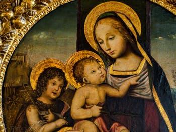 Peintre Toscan, Vierge à l'Enfant et saint Jean enfant, XVIe, Palazzo Vecchio, Florence Italie