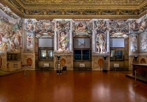 Francesco Salviati, Fresques de la salle des audiences du Palazzo Vecchio à Florence en Italie.