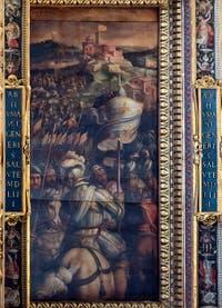 Giorgio Vasari, Prise de Monastero, Plafond de la Salle des Cinq-Cents du Palazzo Vecchio à Florence.