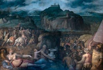 Giorgio Vasari, Prise de la Forteresse de San Léo par les troupes papales, Palazzo Vecchio à Florence en Italie