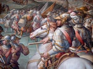 Giorgio Vasari, Guerre de Sienne et prise du port d'Ercole, Salle des Cinq-Cents du Palazzo Vecchio à Florence en Italie