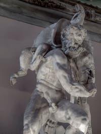 Vincenzo de Rossi, Hercule capture le Sanglier d'Érymanthe, salle des Cinq-Cents du Palazzo Vecchio à Florence en Italie