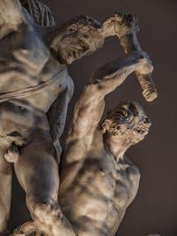 Vincenzo de Rossi, Hercule et le Centaure, 1568, salle des Cinq Cents, dei Cinquecento du Palazzo Vecchio, Florence Italie