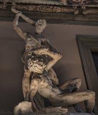Vincenzo de Rossi, Hercule et Cacus, 1568, salle des Cinq Cents, dei Cinquecento du Palazzo Vecchio, Florence Italie