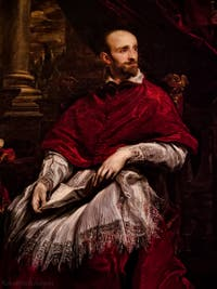 Antoine Van Dyck, Portrait du Cardinal Guido Bentivoglio, 1622-1623, galerie Palatina Pitti, Florence Italie