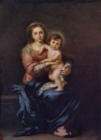 Bartolomé Esteban Murillo, Vierge à l'Enfant, 1650-1655, Galerie Palatina Pitti, Florence Italie