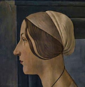 Botticelli, Portrait de Femme, la Belle Simonetta, 1485-1490, Galerie Palatina Pitti, Florence Italie