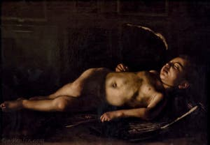 Le Caravage, Michelangelo Merisi, Cupidon endormi, 1608, Galerie Palatina Pitti, Florence Italie