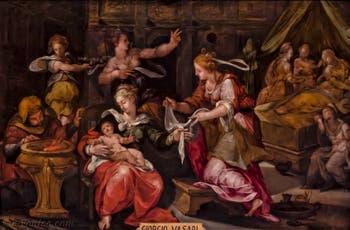 Giorgio Vasari, Naissance de la Vierge Marie, 1568, galerie Palatina Pitti, Florence Italie