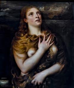 Le Titien, Tiziano Vecellio, Sainte-Marie-Madeleine pénitente, 1533, Galerie Palatina Pitti, Florence Italie