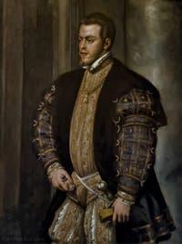 Le Titien, Tiziano Vecellio, Philippe II d'Espagne, 1550, Galerie Palatina Pitti, Florence Italie