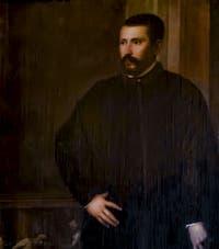 Le Titien, Tiziano Vecellio, Portrait d'un Gentilhomme, 1540-1549, Galerie Palatina Pitti, Florence Italie