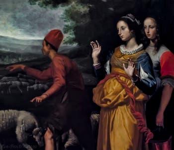 Lorenzo Lippi, Jacob et Rachelle au puits, 1640-1645, galerie Palatina Pitti, Florence Italie