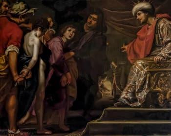 Lorenzo Lippi ou Matteo Rosselli, Trois jeunes juifs condamnés au supplice au four, 1630-1640, galerie Palatina Pitti, Florence Italie