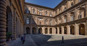 La cour du Palazzo Pitti Palatina à Florence en Italie