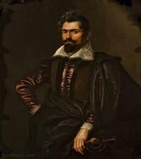 Pierre Paul Rubens, Portrait de Kaspar Skoppe ou Schoppe, 1606, galerie Palatina Pitti, Florence Italie