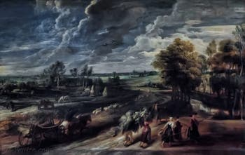 Pierre Paul Rubens, Retour des champs, 1632-1634, galerie Palatina Pitti, Florence Italie