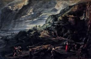 Pierre Paul Rubens, Ulisse sur l'île de Circé, 1630-1635, galerie Palatina Pitti, Florence Italie