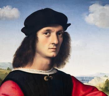 Raphaël, Portrait d'Angelo Doni, 1504-1505, Galerie Palatina à Florence Italie