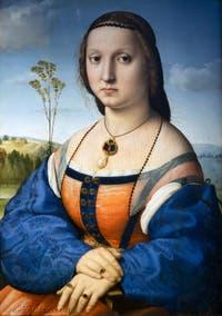 Raphaël, Portrait de Maddalena Strozzi Doni, 1504-1505, Galerie des Offices Uffizi à Florence Italie