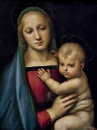 Raphaël, Vierge avec Jésus enfant, Vierge du Grand Duc, 1506-1507, Galerie Palatina Pitti, Florence Italie